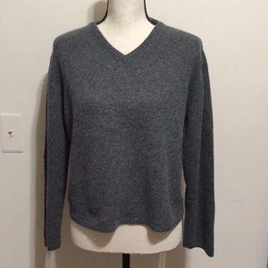 Field Gear cashmere short sweater grey large